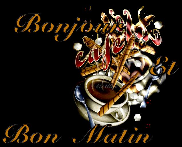 Bonjour Tasse Café